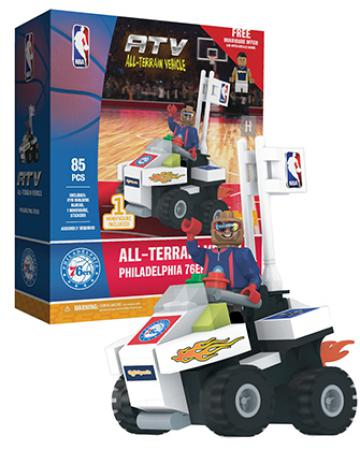 ATV with Super Fan Philadelphia 76ers 85pc Building Block Set