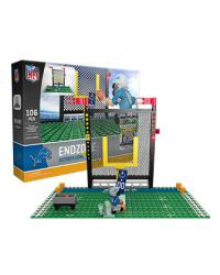 Endzone Set Detroit Lions Building Block Set
