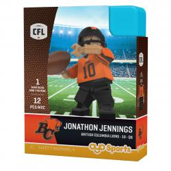 #10 Jonathon Jennings BC Lions Home Version