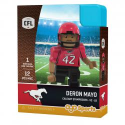 #42 Deron Mayo Calgary Stampeders Home Version