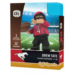 #4 Drew Tate Calgary Stampeders Home Version