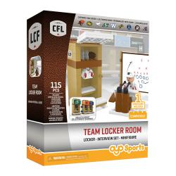 Team Locker Room Candian Football League 115pc Building Set