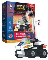 ATV with Super Fan Detroit Pistons 85pc Building Block Set