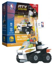 ATV with Super Fan Golden State Warriors 85pc Building Block Set